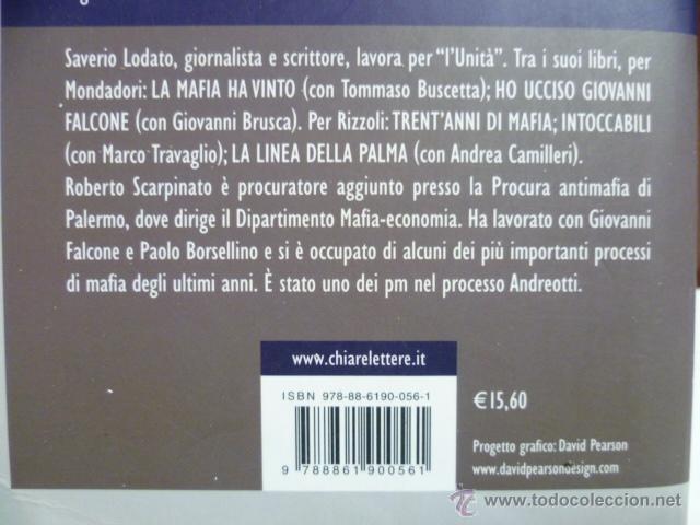 Libros: Il ritorno del principe, Saverio Lodato - Roberto Scarpinato (en italiano) 2008 - 347 pag. - Foto 4 - 40410243