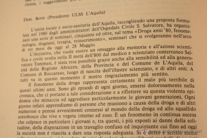 Libros: LIBRO SOBRE ``DROGA ANNI OTTANTA´´ EN ITALIANO (1983) - Foto 12 - 45494106