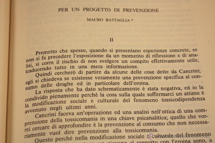 Libros: LIBRO SOBRE ``DROGA ANNI OTTANTA´´ EN ITALIANO (1983) - Foto 13 - 45494106