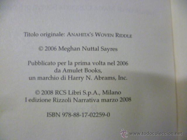 Libros: Anahita e l'enigma del tappeto. Meghan N. Sayres (en italiano) - Foto 2 - 47268680