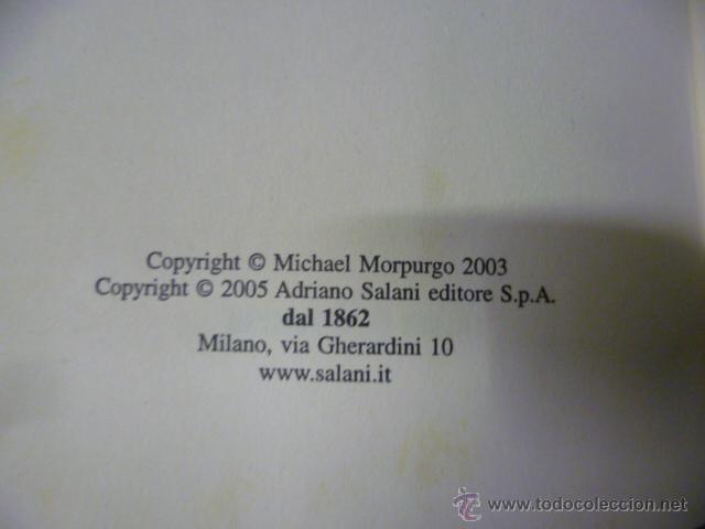 Libros: La Guerra del Soldato Pace - Michael Morpurgo - SALANI - EDITORE - (en italiano) - Foto 3 - 47368029