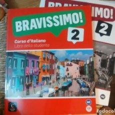 Livres: BRAVISSIMO! 2. ITALIANO. LIBRO + QUADERNO + CD. Lote 184581821