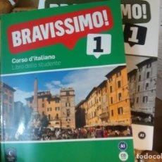 Libros: BRAVISSIMO! 1. ITALIANO. LIBRO + QUADERNO + CD. Lote 184581845