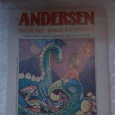 Libros: ANDERSEN. LIBRI & IDEE - SCUOLA & BIBLIOTECA. REVISTA EN ITALIANO.. Lote 203307528