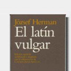 Livres: EL LATIN VULGAR. Lote 55189307
