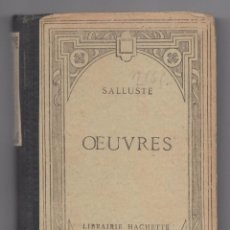 Libros: SALLUSTE OEUVRES. Lote 95407383