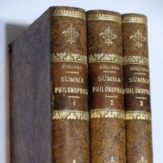 Libros: SUMMA PHILOSOPHICA IN USUM SCHOLARUM - F T M ZIGLIARA - BEAUCHESNE &CIE, ÉDITEURS 1905/08. Lote 112555743
