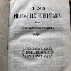 Libros: HISTORIA DE LA FILOSOFÍA 1853 (EN LATÍN). Lote 134306026