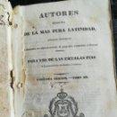 Libros: AUTORES SELECTOS DE LA MÁS PURA LATINIDAD. Lote 140491970