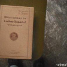 Libros: DICCIONARIO ETIMOLÓGICO DE LATÍN. Lote 160783194