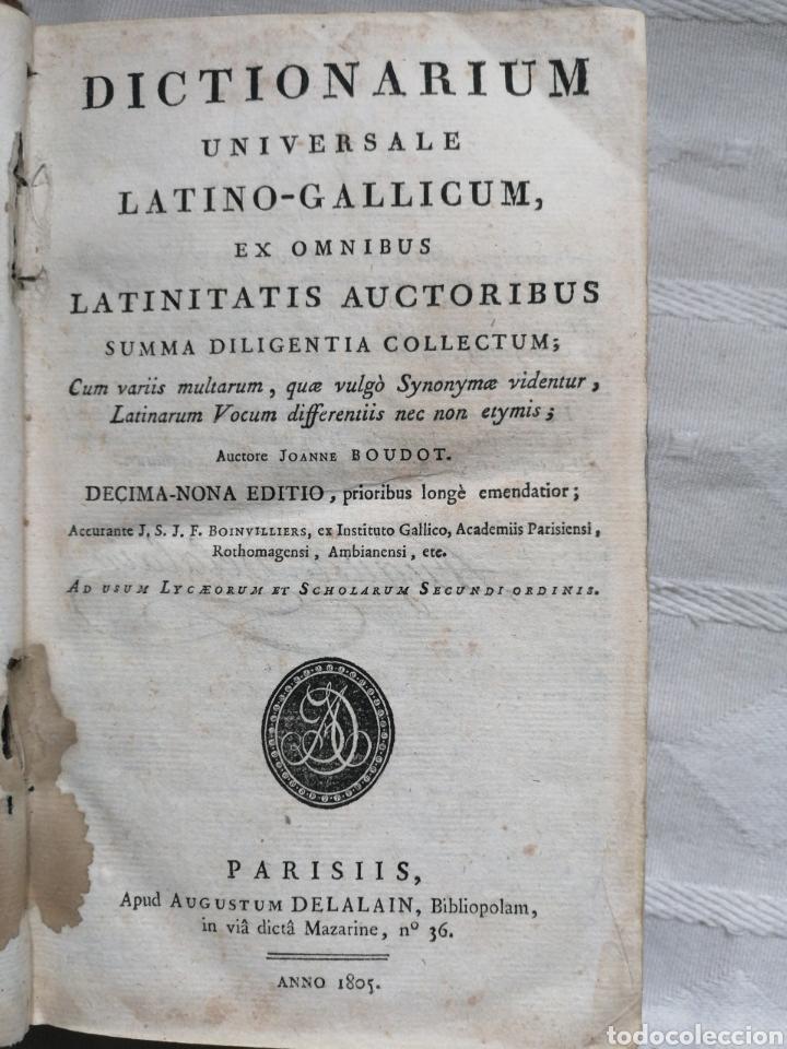 Libros: Dictionarium universale latino-gallicum, ex omnibus latinitatis auctoribus summa diligentia collectu - Foto 2 - 199119793