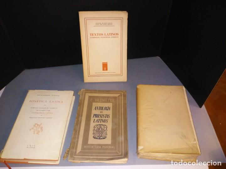 4 LIBROS SOBRE LENGUA LATINA. SINTAXIS, FONÉTICA, TEXTOS Y PROSA EN LATÍN. (Libros Nuevos - Idiomas - Latín y Griego)