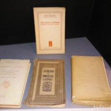 Livres: 4 LIBROS SOBRE LENGUA LATINA. SINTAXIS, FONÉTICA, TEXTOS Y PROSA EN LATÍN.. Lote 205290992