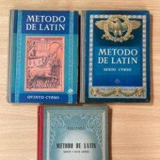 Libros: ED. LUIS VIVES, LENGUA LATINA, MÉTODO DE LATÍN Y CLAVE DE LOS EJERCICIOS, 1959. Lote 276805863