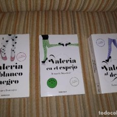 Livres: LOTE DE 3 LIBROS VALERIA EN BLANCO Y NEGRO+VALERIA EN EL ESPEJO+VALERIA AL DESNUDO . Lote 127945579