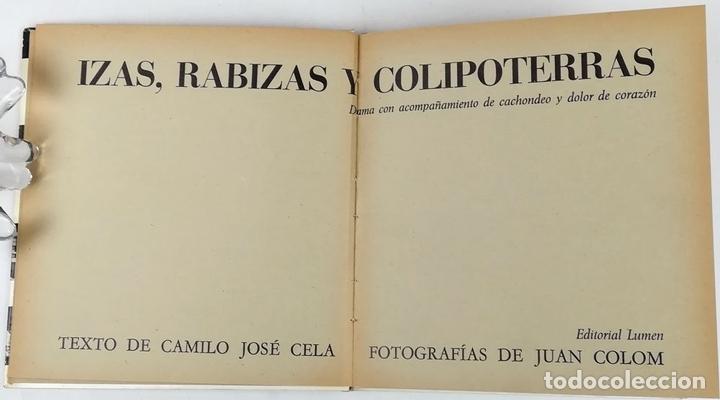 Libros: IZAS. RABIZAS Y COLIPOTERRAS. CAMILO JOSÉ CELA. EDITORIAL LUMEN. BARCELONA 1964 - Foto 2 - 157211498