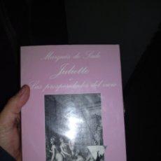 Livres: JULIETTE O LAS PROSPERIDADES DEL VICIO MARQUÉS DE SADE. Lote 189295605