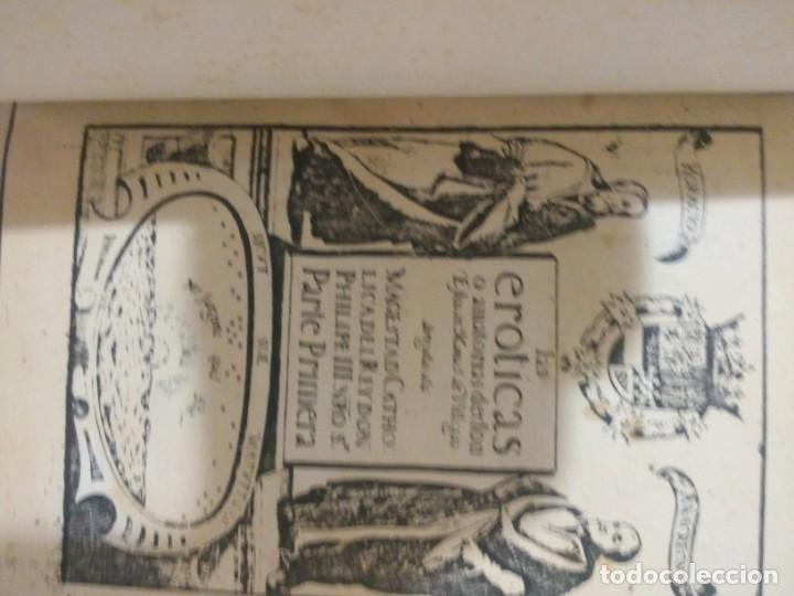 Libros: Vendo primera edicion,esteban manuel de villegas,las eroticas o amatorias,1617-en najera, - Foto 2 - 195704031