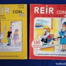 Libros: DOS COMIC EROTICO REIR CON LAS COSAS PROHIBIDAS, 150 CHISTES,1980 Y LOS MARIDOS INCAUTOS,1979. Lote 195990448
