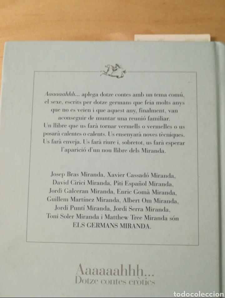 Libros: Libro Aaaaaahhh Dotze contes eròtics - Foto 2 - 198569067