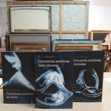 Libros: TRILOGÍA CINCUENTA SOMBRAS DE GREY.. Lote 202966152