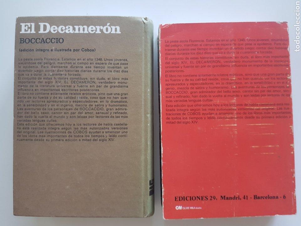 Libros: Lote 2 tomos El Decameron ,Ediciones 29. 1972 y 1976 - Foto 3 - 210673210
