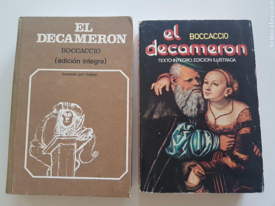 LOTE 2 TOMOS EL DECAMERON ,EDICIONES 29. 1972 Y 1976 (Libros Nuevos - Literatura - Narrativa - Erótica)