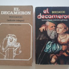 Libros: LOTE 2 TOMOS EL DECAMERON ,EDICIONES 29. 1972 Y 1976. Lote 210673210