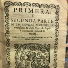 Livres: NOVELAS EXEMPLARES DE DOÑA MARÍA DE ZAYAS. Lote 211766072