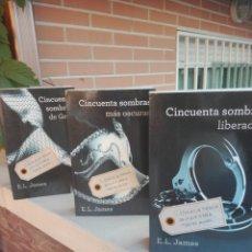 Libros: TRILOGÍA CINCUENTA SOMBRAS,FIRMADA LOS TRES LIBROS,,E.L.JAMES. Lote 216908740