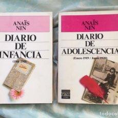 Libros: ANAIS NIN: DIARIO DE INFANCIA Y DE ADOLESCENCIA. Lote 291230943