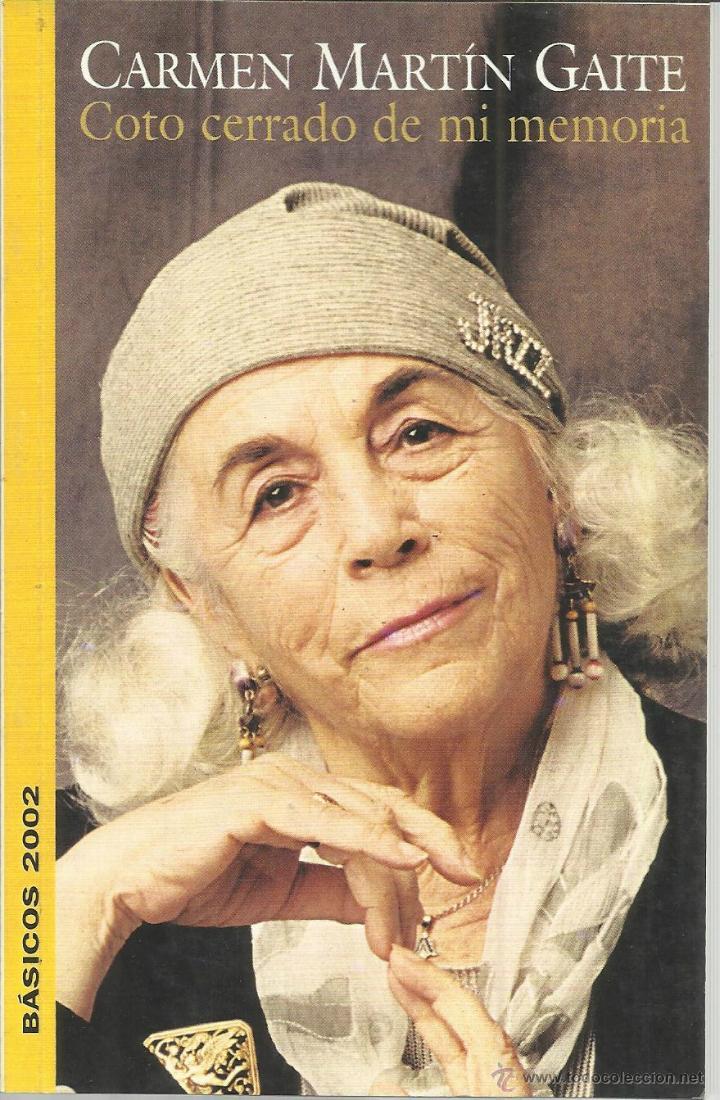 COTOE CERRADO DE MI MEMORIA. CARMEN MARTÍN GAITE. . CONSORCIO SALAMANCA. 2002 (Libros Nuevos - Narrativa - Literatura Española)