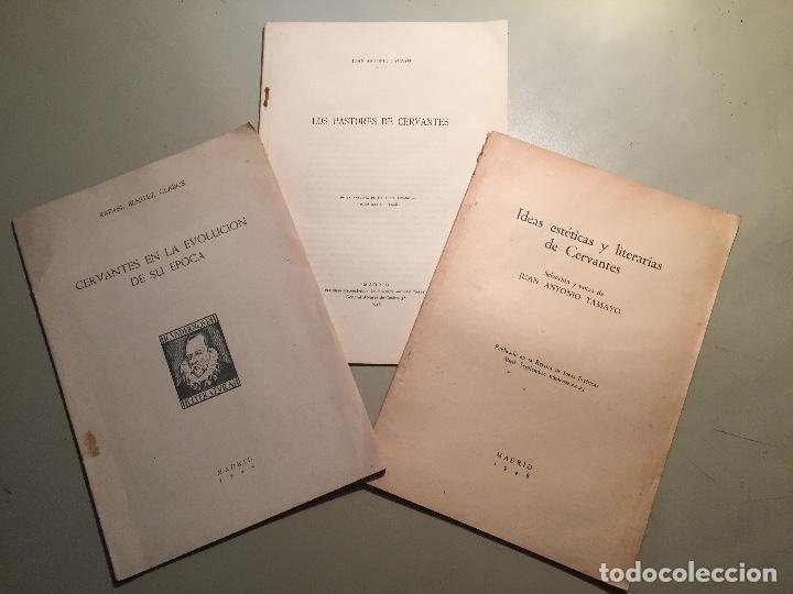 CERVANTES - QUIJOTE.TRES SEPARATAS DE ESTUDIOS CERVANTINOS 1948. (Libros Nuevos - Narrativa - Literatura Española)