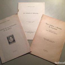 Libros: CERVANTES - QUIJOTE.TRES SEPARATAS DE ESTUDIOS CERVANTINOS 1948.. Lote 85934852