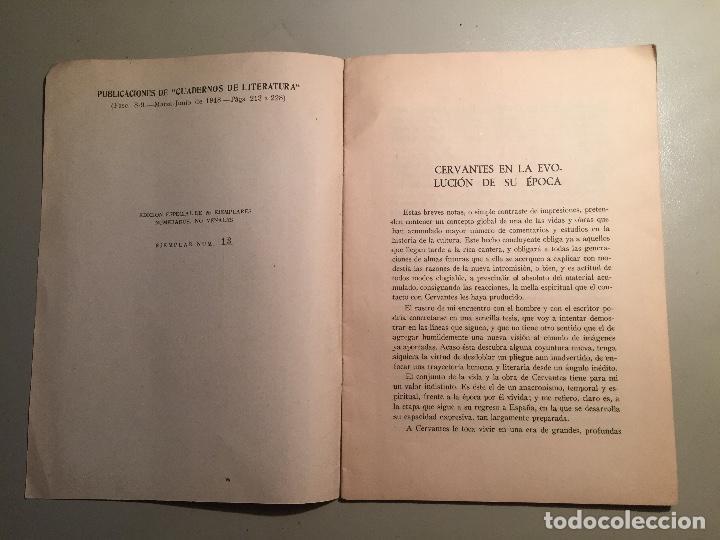 Libros: CERVANTES - QUIJOTE.TRES SEPARATAS DE ESTUDIOS CERVANTINOS 1948. - Foto 2 - 85934852