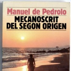 Libros: MECANOSCRIT DEL SEGON ORIGEN DE MANUEL PEDROLO. Lote 87489200