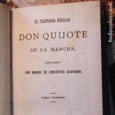 Libros: QUIJOTE, CERVANTES, EDICIÓN MINIATURA, DOS TOMOS, MOYA Y PLAZA, 1880, MADRID. Lote 78423289