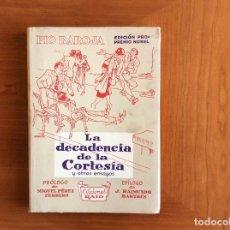 Livros: PÍO BAROJA PRO NOBEL. Lote 111420651