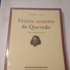Libros: LIBRO VEINTE SONETOS DE QUEVEDO,ESTEBAN TORRES,PRESINTADO.ENVIO CERTIF.GRATIS. Lote 116651598