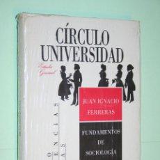 Livres: FUNDAMENTOS SOCIOLOGIA DE LITERATURA *** COLECCIÓN CIRCULO UNIVERSIDAD (1988) *** PRECINTADO. Lote 120713455