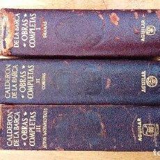 Libros: OBRAS COMPLETAS DE CALDERON DE LA BARCA TOMOS 1 Y 3. Lote 165783970