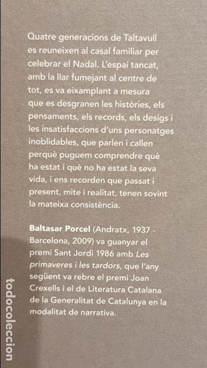 Libros: LES PRIMAVERES I LES TARDORS / BALTASAR PORCEL / NARRATIVA CATALANA / 12 - Foto 2 - 140417754