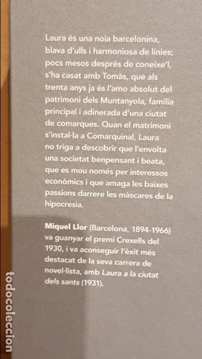 Libros: LAURA A LA CIUTAT DELS SANTS / MIQUEL LLOR / NARRATIVA CATALANA / 20 - Foto 2 - 140423522
