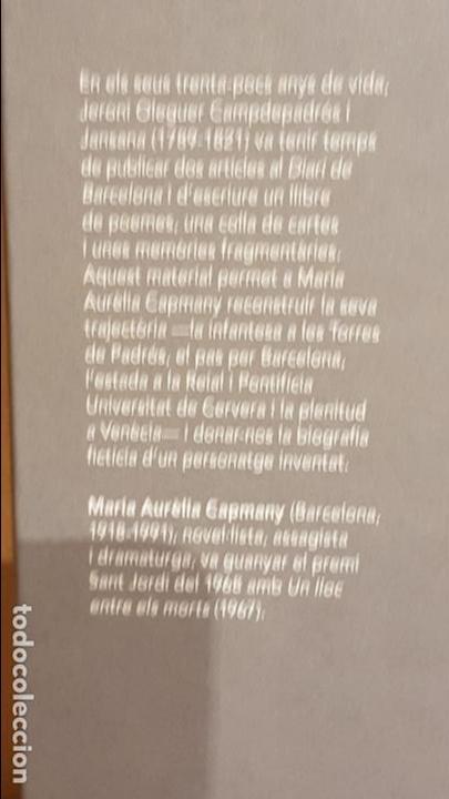 Libros: UN LLOC ENTRE ELS MORTS / MARIA AURÈLIA CAPMANY / NARRATIVA CATALANA / 18 - Foto 2 - 140424810