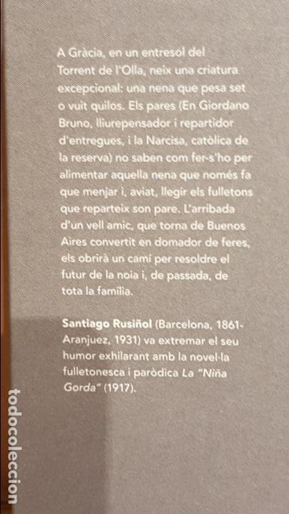 Libros: LA NIÑA GORDA / SANTIAGO RUSIÑOL / NARRATIVA CATALANA / 13 - Foto 2 - 140427406