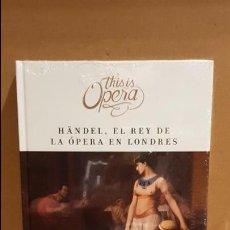 Libros: THIS IS OPERA / GIULIO CESARE, DE G.F. HÄNDEL / LIBRO CD + DVD / PRECINTADO. Lote 182615492