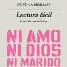 Libros: CRISTINA MORALES LECTURA FACIL. Lote 157015578