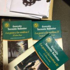 Libros: LOS GOZOS Y LAS SOMBRAS 3 VOLÚMENES. GONZALO TORRENTE BALLESTER.. Lote 182703051