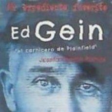 Libros: ED GEIN. EL CARNICERO DE PLAINFIELD. Lote 182844285