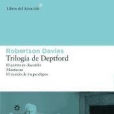 Libros: TRILOGÍA DE DEPTFORD. Lote 186403921
